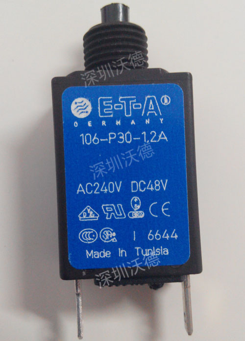 ETA断路器106-P30-1,2A AC24OV DC48V实拍图